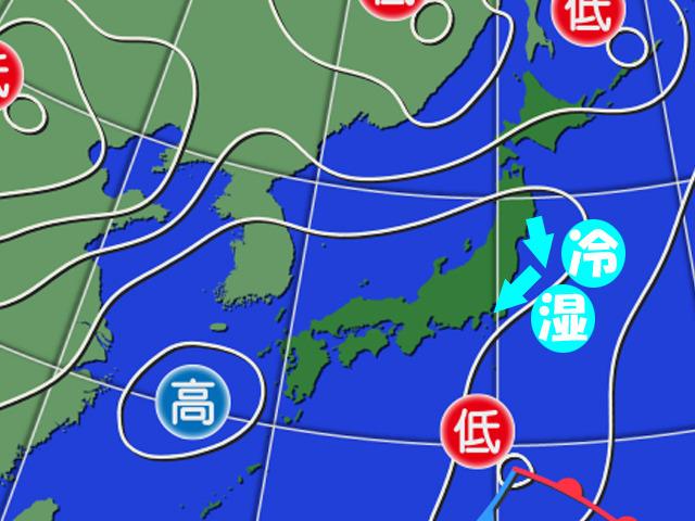 6日(火)。北東からの冷たく湿った風で関東の予報を大はずし。「詰め天気」で出題したばかりだったのに…お恥ずかしい。