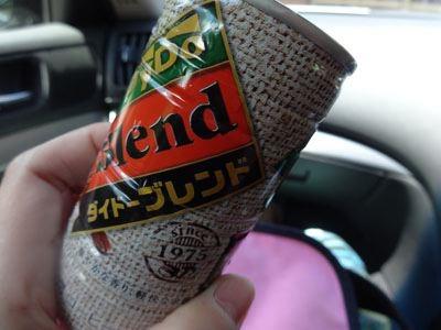 おかみさんに、缶コーヒーもらった。いや、こういう心配りが、ドライバーに愛される理由なんだろうな。