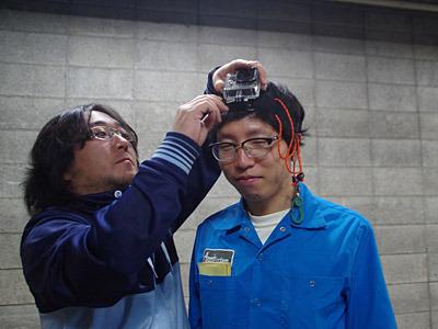 そして大北さんには芸人風カメラを装着していただく。