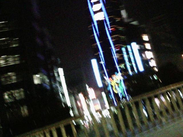 準クライマックス 22:16 会社を出て新宿まで歩いてる途中。歩道橋の上。心拍数137