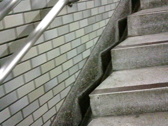 クライマックス 20:39  心拍数143  岩本町駅の階段