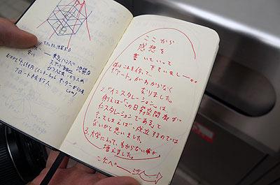 そして最後まで誰も記帳してくれなかったという展示ノート