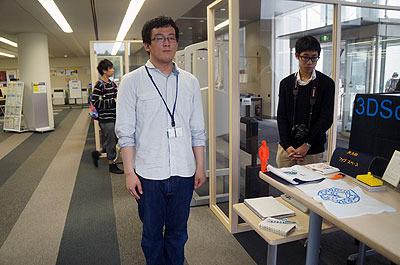 手伝ってもらった淺野さんの近作。自分の立ち姿をスキャンして3Dプリンタで型を作り…