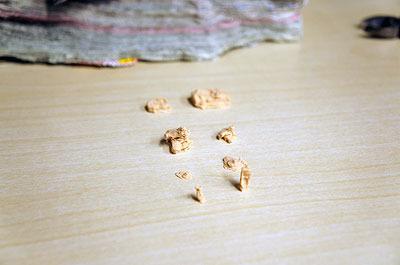 最終的に完成した砂粒たち