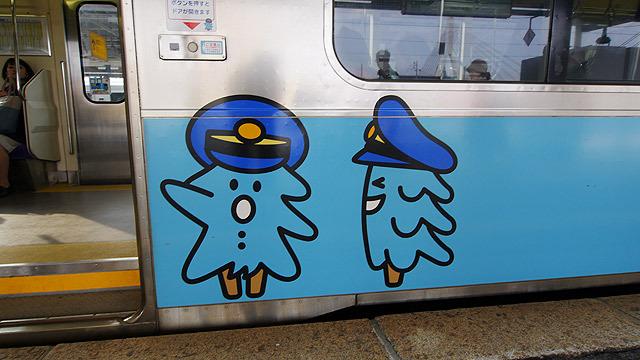これはパイカではなく三沢駅に止まる電車のキャラクター