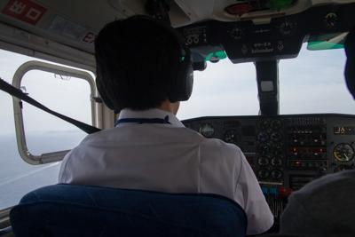 目の前で操縦を見られるなんて!
