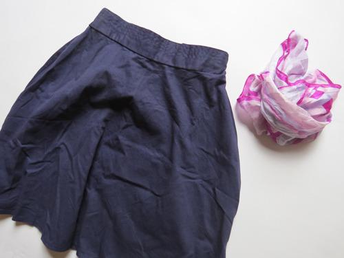 服の方は何を買ってもサービスは受けられる。普通のスカートにしておいた