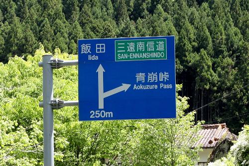 左の方が立派だが、そちらは迂回路の林道へと続く道路なのだ