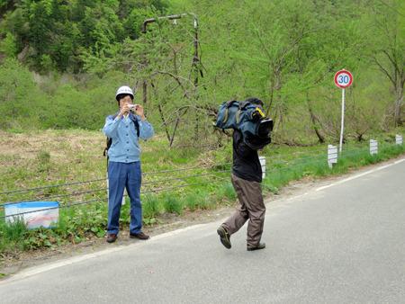 テレビカメラも何台か来ていた