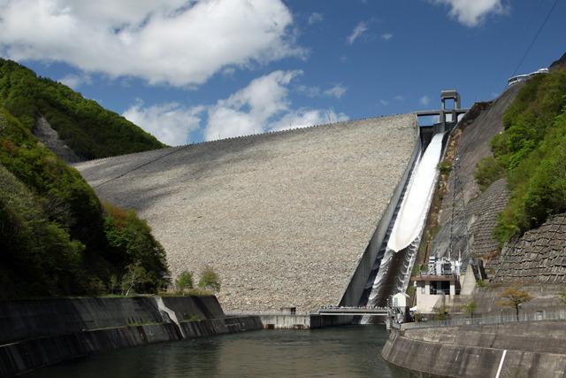 奈良俣ダムの試験放流も予定通り行われた