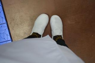 と、その前に。白衣にお着替え。