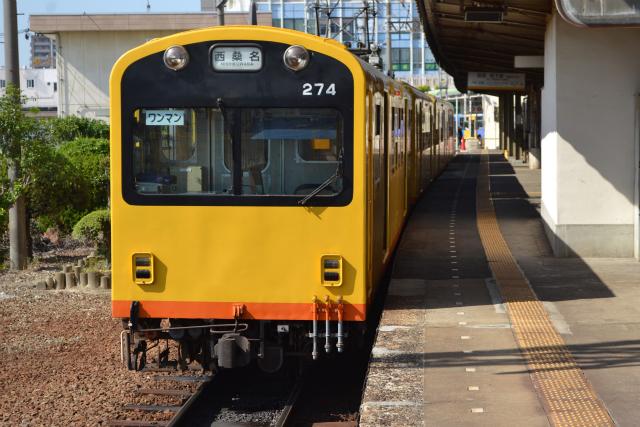 阿下喜駅から西桑名駅まで46分ほどで到着する