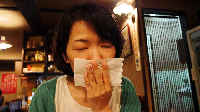 そして紙ナプキンにkiss
