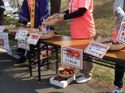 栗原市観光物産協会よりイチゴのとちおとめ!