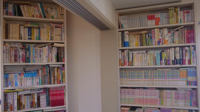 マンガが3割、その他分類しきれない書物たち。