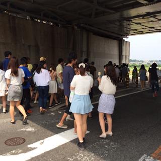 渋谷の交差点をうすめたような場所、それが二子新地のバーベキュー場ではないだろうか