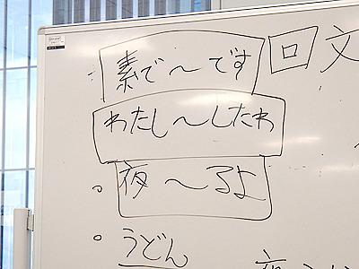 基礎の回文構文。これらを組み合わせて間に上手く言葉を入れれば回文がつくれる。