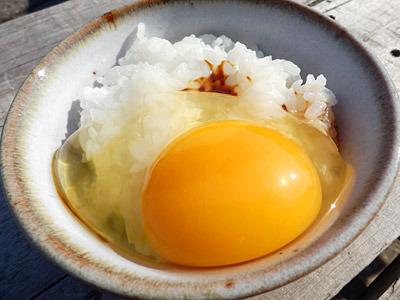 ダグラスさんがもらってきた卵がとてもうまかった。