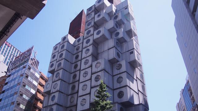 メタボリズム建築の中に入った