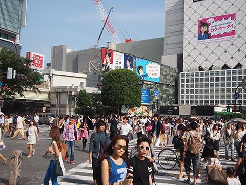 若者と糖分が交錯する街、渋谷。