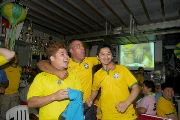 ブラジルの勝ちだー