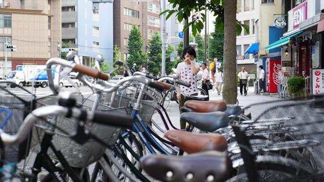 連なる自転車