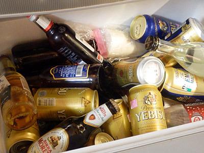 S子さんの男前すぎる冷蔵庫の野菜室。この日のために冷やしている訳ではなく、これが日常らしい。