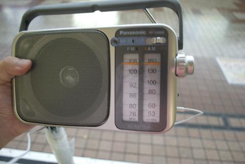 最初に会話をとらえた柏駅周辺で、電波の限界点を探る