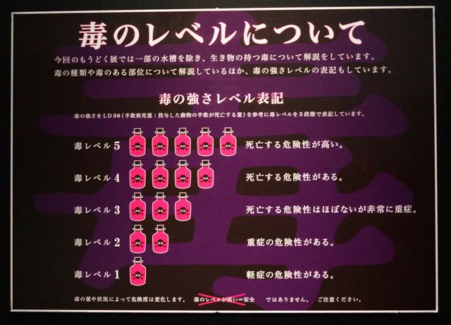 5段階でわかりやすい毒レベル表示。レベル1から危険。