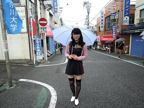 横須賀市在住で神奈川大学4年生の桝渕嬢