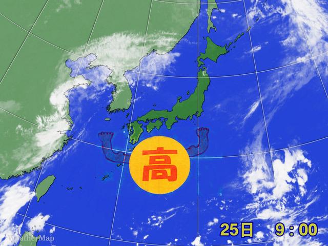 25日に岐阜の多治見で39.3℃!夏の太平洋高気圧が強まって、猛暑がやってきた。