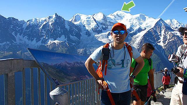 ヨーロッパアルプスの最高峰です。標高4,810mあります。