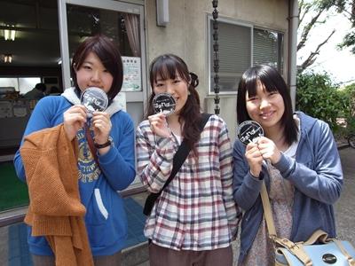 相模原から訪れたYさん、Kさん、Mさん(左から)