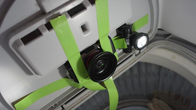 上部フタにカメラと照明を設置するパターン。