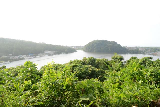 吉崎御坊跡から眺めた北潟湖