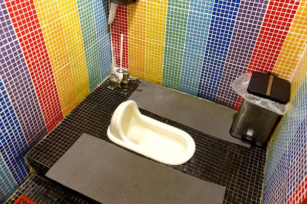 で、リアルトイレはこちら。本物は和式なんだ!