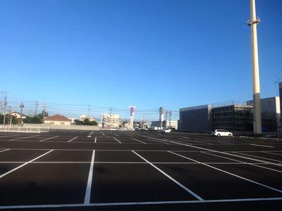 駐車場もいっぱいある!(お盆であんまり車なかったけど)
