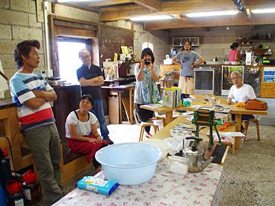 カフェ de 製麺。自分以外は氷見周辺在住というアウェーでのワークショップ開催。