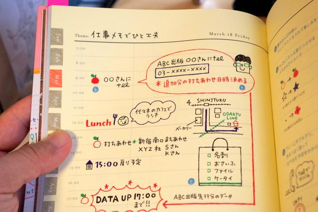 「4色ボールペンでかんたん!かわいい手帳イラスト」より