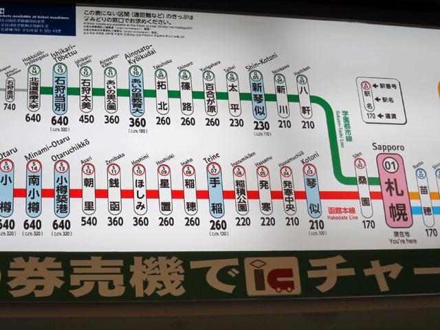 前半は現代風の駅名が並ぶが...