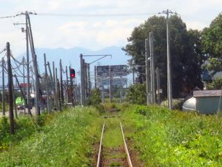 この駅で架線が終わる
