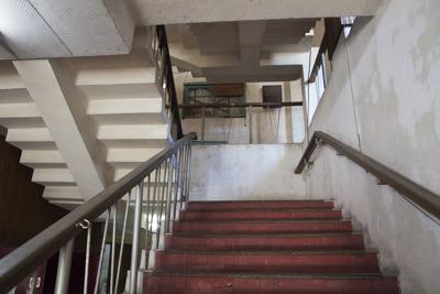 レトロな階段がかっこいいです
