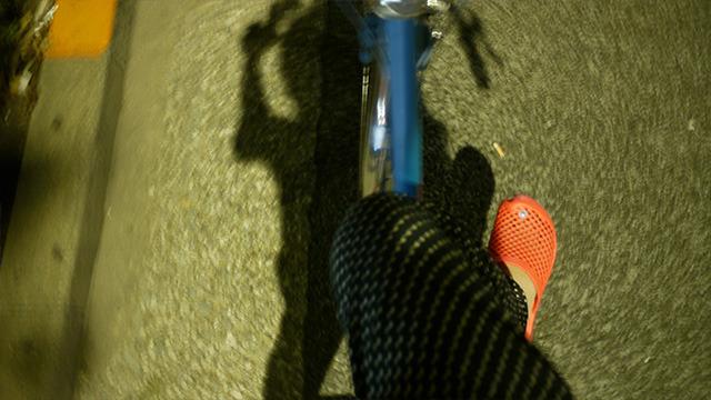 電車がなくなるので自転車で周る