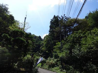 かなーり、山の中にあります。私は車で行きました。