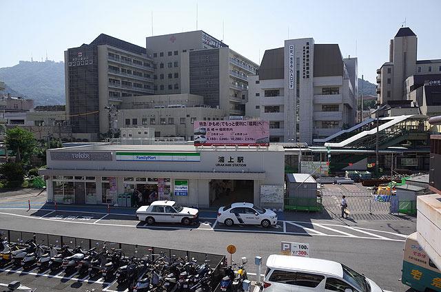 浦上駅。JRの駅の位置は昔からあまり変わってないようだ。