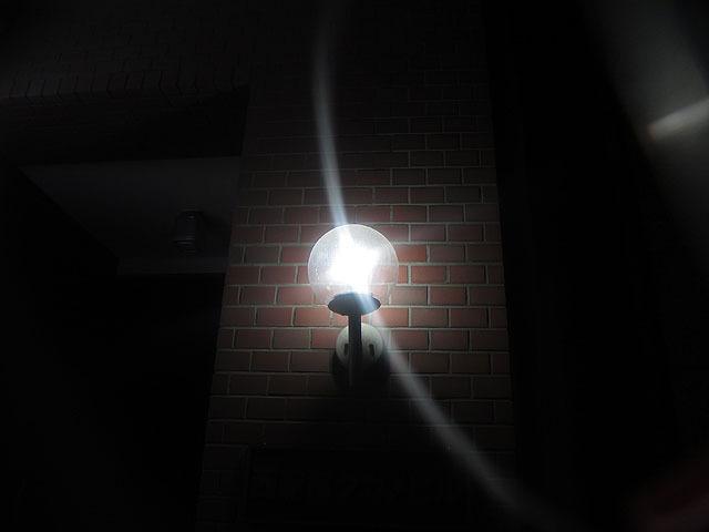 僕のメガネ。やっぱりこの三日月形の光は独特だ
