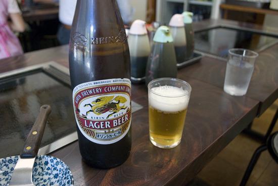 うれしいことにビールも飲めます