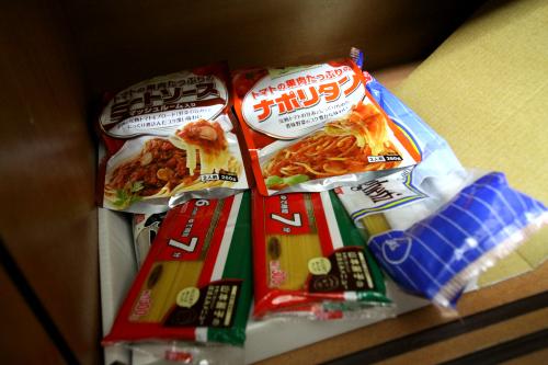 食料庫にあるのはスパゲティソースだけ