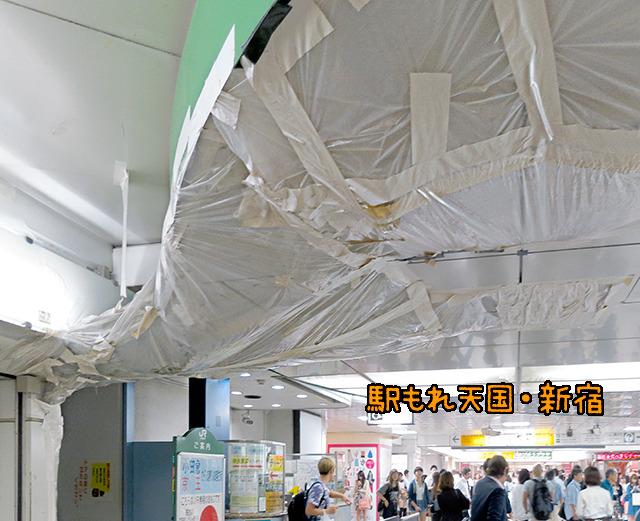 だいたい集合場所の新宿駅東口からしてこの巨大駅もれ作品!