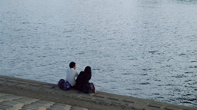 東京にいるスタッフからの写真。東京サイドは河原がスイートな雰囲気になってきたようだ。